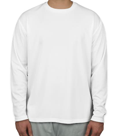 Sport-Tek Dri-Mesh Long Sleeve Performance Shirt - White