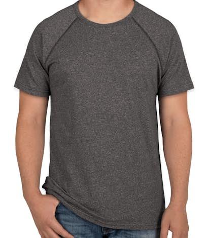 Next Level Melange Raglan T-shirt - Black