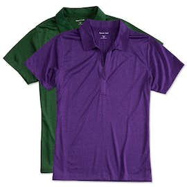 Sport-Tek Ladies Heather Performance Polo - Screen Printed