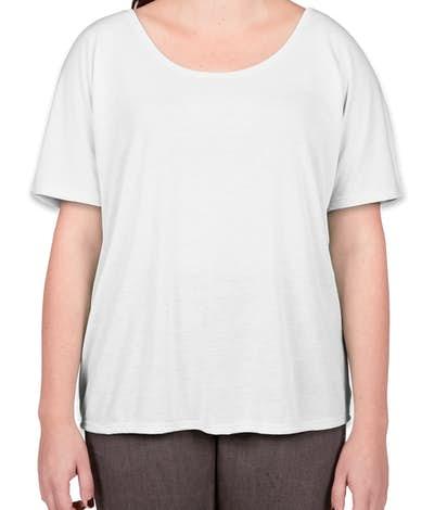 Bella Ladies Flowy T-shirt - White