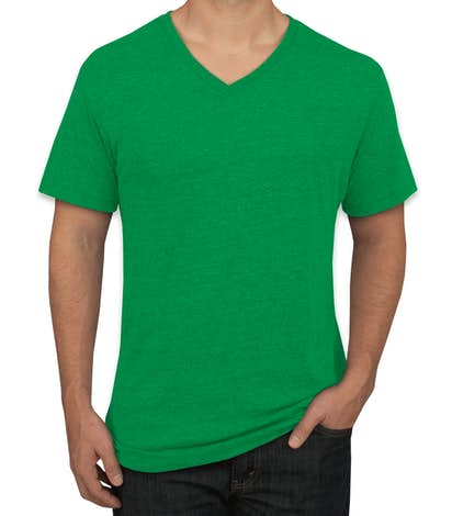 Custom next level tri blend v neck t shirt design short for Tri blend custom t shirts