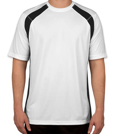 Sport-Tek Colorblock Performance Shirt - White / Black