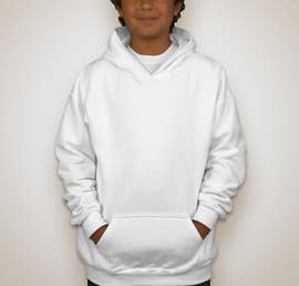 Gildan Youth Midweight 50/50 Pullover Hoodie - Color: White