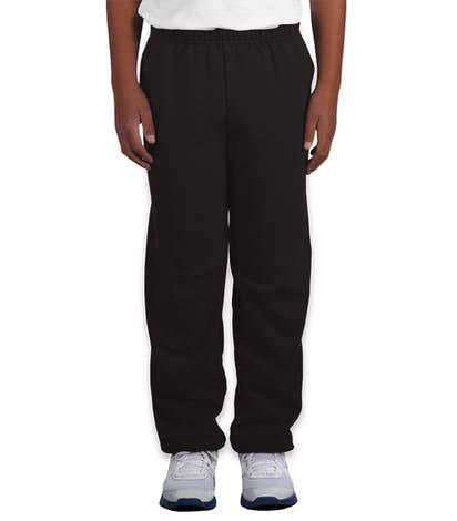 Gildan Youth Midweight 50/50 Sweatpants - Black