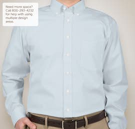 Devon & Jones Solid Dress Shirt - Color: Crystal Blue