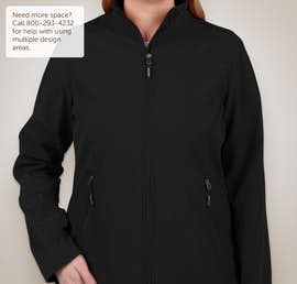 Core 365 Ladies Fleece Lined Soft Shell Jacket - Color: Black