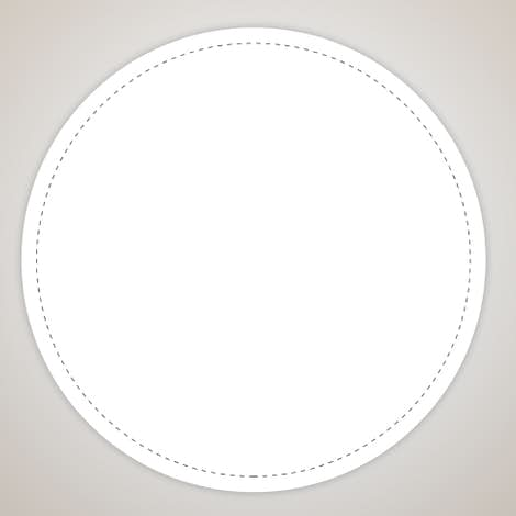 Full Color 4 in. Circle Vinyl Decal - White