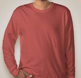 Comfort Colors 100% Cotton Long Sleeve Shirt - Color: Crimson