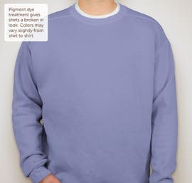 Comfort Colors Crewneck Sweatshirt - Color: Flo Blue