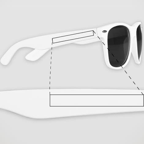 Matte Malibu Sunglasses - White