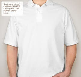 Jerzees Spotshield 50/50 Jersey Polo - Color: White