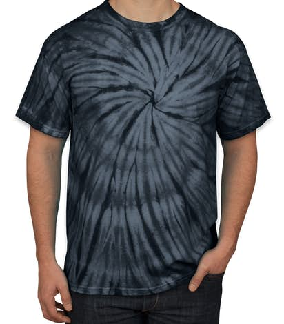 Dyenomite 100% Cotton Tonal Tie-Dye T-shirt - Black
