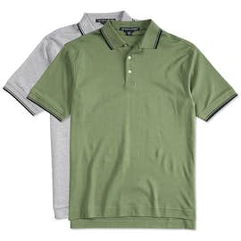 Devon & Jones Tipped Pima Interlock Polo