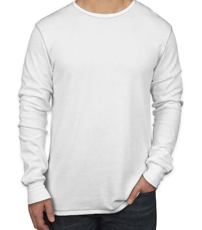Canvas Long Sleeve Thermal - White / Grey