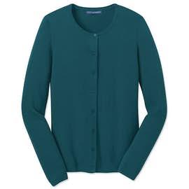 Port Authority Ladies Full Button Cardigan Sweater