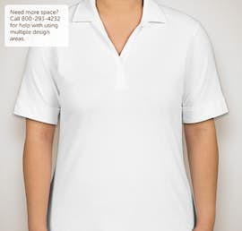 Port Authority Ladies Silk Touch Interlock Jersey Polo - Color: White