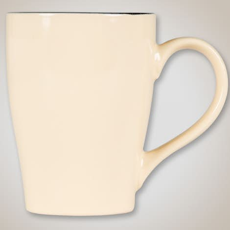 16 oz. Ceramic Two-Tone Sherwood Mug - Sand / Black