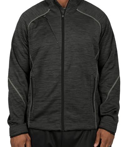 North End Melange Tech Fleece Lined Jacket - Carbon / Black