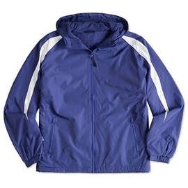Sport-Tek Fleece Lined Colorblock Hooded Jacket