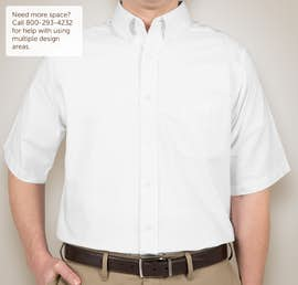 Ultra Club Short Sleeve Wrinkle-Free Oxford Dress Shirt - Color: White