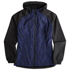 Sport-Tek Ladies Heather Raglan Hooded Full Zip Jacket