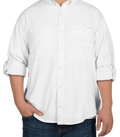 Hilton Long Sleeve Performance Fishing Shirt - White