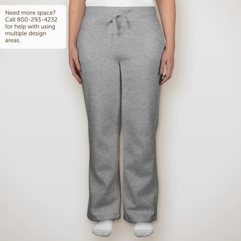 Canada - Gildan Ladies Open Bottom Sweatpants - Sport Grey