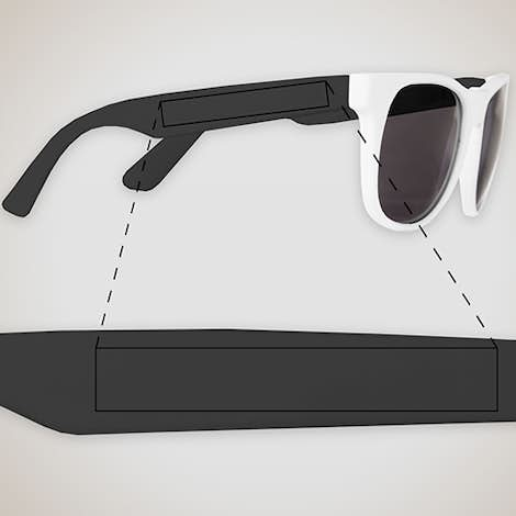 Two-Tone Promotional Sunglasses - White / Black