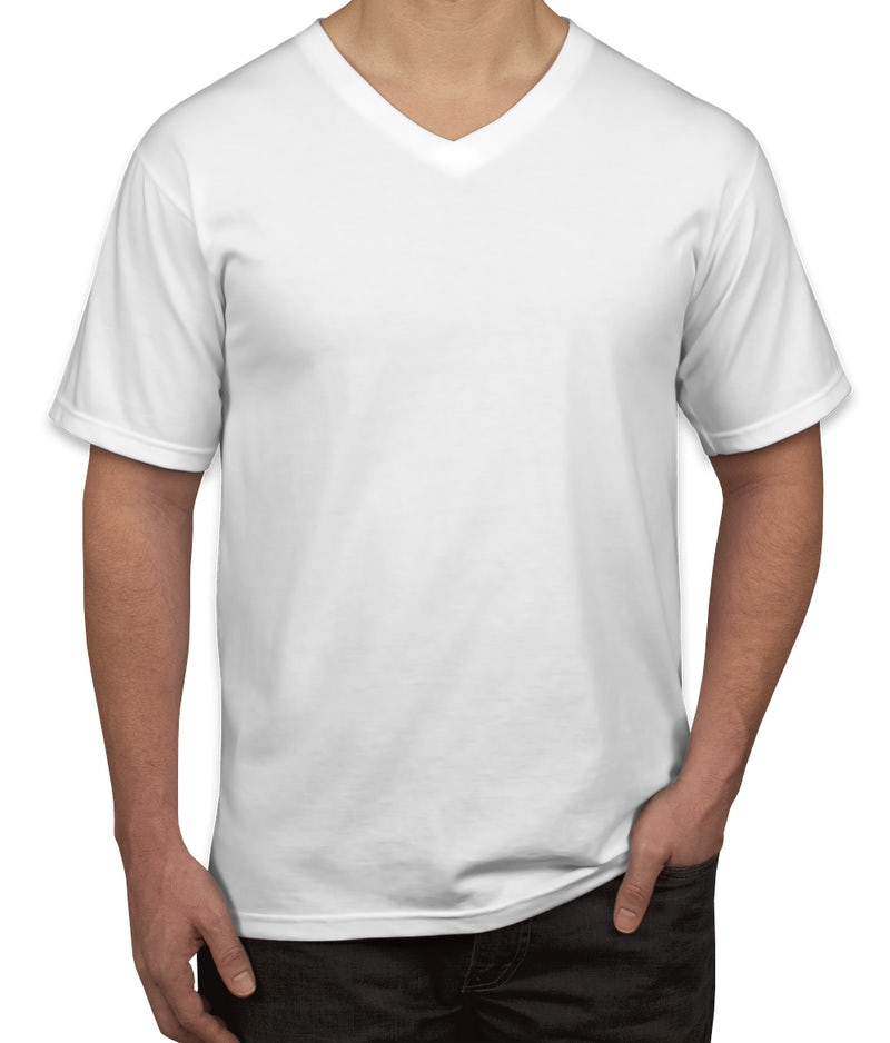 Custom anvil jersey v neck t shirt design short sleeve t for T shirts online custom