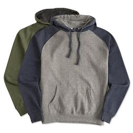 Independent Trading Heather Raglan Pullover Hoodie
