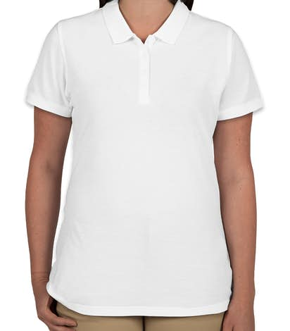 Port Authority Ladies Lightweight Classic Pique Polo - White