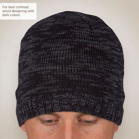 District Spaced-Dyed Beanie - Black / Charcoal