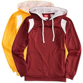 Team 365 Ladies Contrast Performance Pullover Hoodie