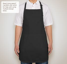 Stain Release Full Length Apron - Screen Printed - Color: Black