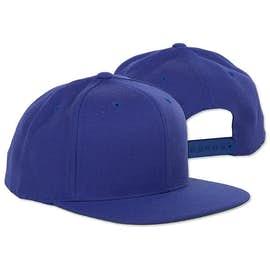 Yupoong Flat Bill Snapback Hat