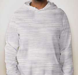 Canvas Ultra Soft Pullover Hoodie - Color: Light Grey Marble