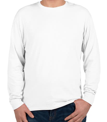 Hanes X-Temp Long Sleeve T-shirt - White