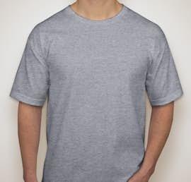 Bayside 100% Cotton USA T-shirt - Color: Dark Ash