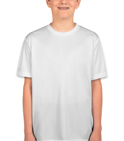 Sport-Tek Youth Competitor Performance Shirt - White