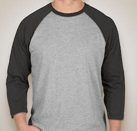 LAT Baseball Raglan - Color: Vintage Heather / Vintage Smoke