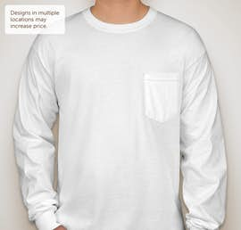 Canada - Gildan Ultra Cotton Long Sleeve Pocket T-shirt - Color: White