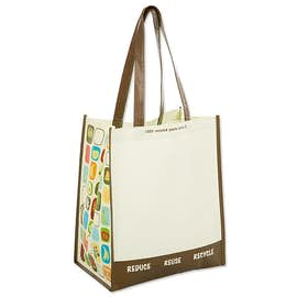 Large Laminated 100% Recycled Shopper Tote
