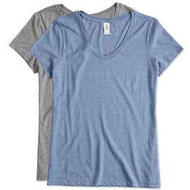 District Made Ladies Tri-Blend V-Neck T-shirt