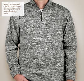 J. America Cosmic Quarter Zip Performance Pullover - Color: Charcoal Fleck