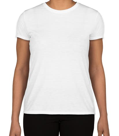 Gildan Ladies Soft Jersey Performance Shirt - White