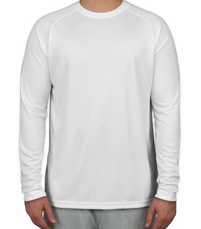 Sport-Tek Long Sleeve Performance Raglan - White