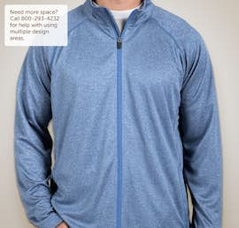 Devon & Jones Heather Performance Full Zip - Color: French Blue Heather