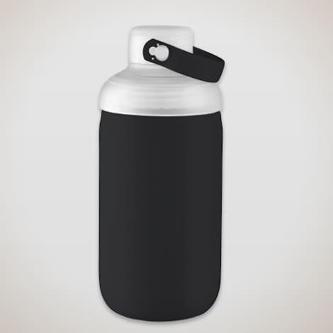 20 oz. Poppi Glass Water Bottle - Black
