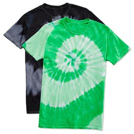 Dyenomite 100% Cotton Two-Tone Spiral Tie-Dye T-shirt