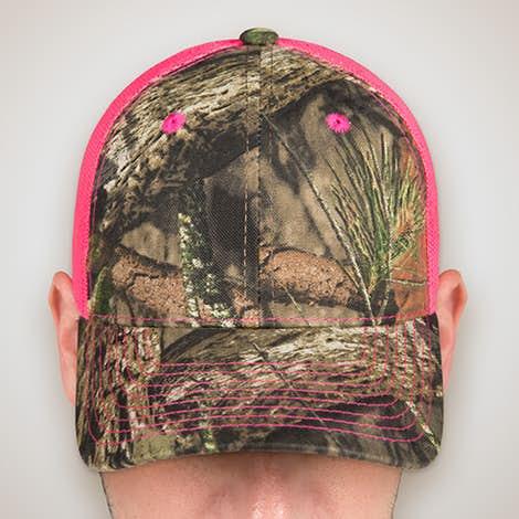 Outdoor Cap Neon Camo Trucker Hat - Country / Neon Pink